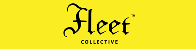 The Fleet Collective logo, blackletter text on a yellow background.