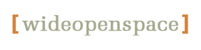 The Wideopenspace logo, simple text within brackets.
